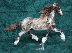 Breyer Custom cm Friesian by Diane Capwell in Appaloosa Etch Technique | eBay