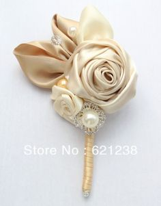 Find More Wedding Bouquets Information about Private customization, senior groom corsage, rose boutonniere, champagne corsages, handmade,High Quality champagne button,China corsage prom Suppliers, Cheap corsage pin from Brooch bouquets custom store on Aliexpress.com