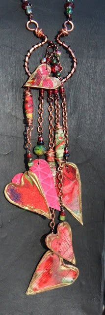 Use wire shapes and cover with mulberry paper, Coat with Mod Podge. Makes beautiful jewelry.