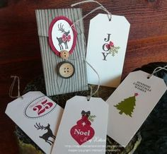 Megumis Stampin Retreat: Petite Pocket Christmas Holder and Tags 25 Days Of Christmas, Christmas Card Crafts, Christmas Tag, Christmas Ornaments, Christmas Ideas, Joyous Celebration, Craft Fairs, Cardmaking, Stampin Up