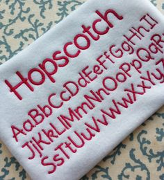 Machine Embroidery Font Download Design Pattern Alphabet Lettering INSTANT DIGITAL FILE Summer Fun Girl Boy Hopscotch Playground Outdoors by PersonalLife on Etsy