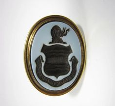 "15k yellow gold Fob Seal ""Occurrent Nubes"".  intaglio is black and white banded agate stone.  This seal belonged to a British politician John Eliot, 1st Earl of St Germans (30 September 1761 – 17 November 1823), known as the Lord Eliot from 1804 to 1815."