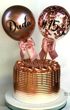 15th Birthday Party Ideas, 15th Birthday Cakes, Birthday Cake Girls, Birthday Parties, Cakes For Boys, Drip Cakes, Edible Art, Cake Designs, First Birthdays