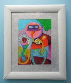 INK drawing. Modern art colorful. Size:16 cm x 22 cm por ArtEstrela