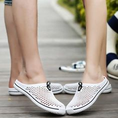 53139a91d981a Hollow-out Breathable Beach Sandals Big Size Slip On Casual Flat Shoes