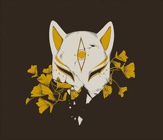 PREORDERS OPEN: Kitsune T-Shirt Aesthetic Art, Aesthetic Anime, Art Sketches, Art Drawings, Tattoo Design Drawings, Kitsune Mask, Japanese Mask, Japanese Drawings, Bild Tattoos