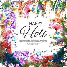 illustration of colorful Happy Holi Background for Festival of C Birthday Banner Background, Celebration Background, Wedding Background, Christmas Background, Holi Festival Of Colours, Holi Colors, Holi Celebration, Happy Birthday Celebration, Happy Holi Images