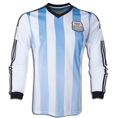 argentina national team 2014 home soccer long sleeve jersey