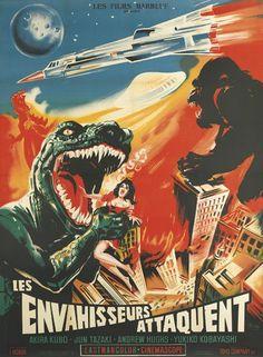 怪獣総進撃 / Destroy All Monsters (1968) French movie poster