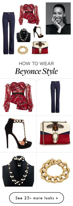 """Untitled #285"" by joshua-d-tyson on Polyvore featuring Gucci, Calvin Klein 205W39NYC and self-portrait Beyonce Style, Calvin Klein, Gucci, Portrait, Polyvore, Fashion, Moda, La Mode, Men Portrait"