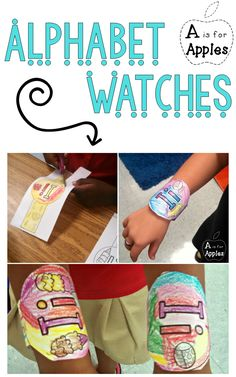 Have fun learning the letters of the alphabet with these alphabet watches! Students will love wearing these home to practice their letter of the day/week!