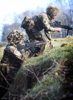 Royal Regiment of Scotland Soldiers in Training Exercise