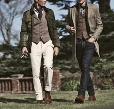 Bros before everything.except style. Looks by Hackett London. Gentleman Mode, Gentleman Style, Dapper Gentleman, Dapper Man, Mode Masculine, Sharp Dressed Man, Well Dressed Men, Dandy Look, Dandy Style