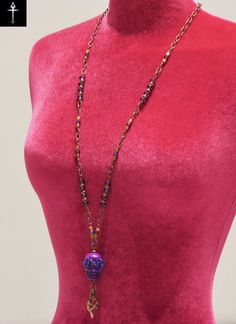 Items similar to Handmade purple skull necklace with acrylic purple flowers for eyes on Etsy Skull Necklace, Beaded Necklace, Pendant Necklace, Purple, Trending Outfits, Unique Jewelry, Handmade Gifts, Etsy, Vintage