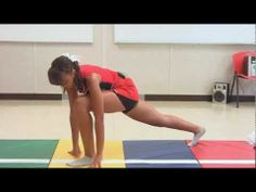 Cheerleader 5 Minute Stretch Routine, Perfect Splits Follow Along, Cheer with Inez    Inez is a high school cheerleader and in this video she gives you a 10 minute stretching routine that will help you improve flexibility so you can have amazing stunts and splits. She explains how each stretch helps you master jumps such as the herkie, high kick...