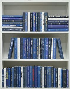 Arctic Blue (Books by Color). A mix of royal blue and white, these modern cloth hardbacks are in very good to new condition. These books are perfect for interior decorating, model/vacation home furnishings, art materials, AND Book Aesthetic, White Aesthetic, Aesthetic Pictures, White Books, Blue Books, Recycled Books, Shelfie, Commercial Design, Book Of Life