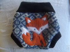 SMALL Wool Cloth Diaper Cover Fox Upcycled wool diaper soaker