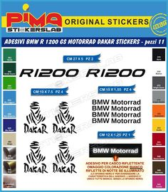 RGS Beak Sticker Multicolor Letter Designs BMW And Scrambler - Bmw motorcycle custom stickers decals