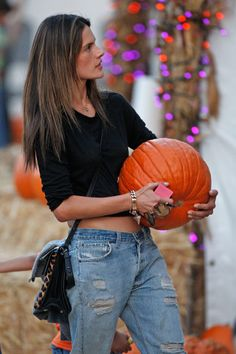 Pumpkin Patch Kids: Kim Kardashian West, Alessandra Ambrosio, and Harry Styles Get into the Halloween Spirit – Vogue - Alessandra Ambrosio