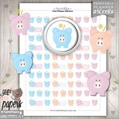 Saving Stickers, Planner Stickers, Piggy Bank Stickers, Money Stickers, Planner Accesories, Kawaii Stickers, Weekly Stickers, Erin Condren