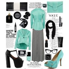"""siyah mint"" by hannahsweety on Polyvore"