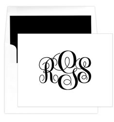 Grand Monogram Folded Note Cards