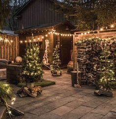 My Christmas decorating motto for the yard is: if you can see it you should decorate it. Whether it's along the path you walk from your car or from the inside of your kitchen looking out, stick a tree, swag, garland or lights on it. It's Christmas. There's no such #christmascrafts