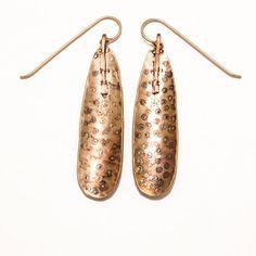 Art Jewelry Bronze Earrings Prehistoric Aboriginal by 2Roses