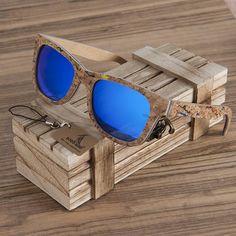 6aa79b3f368a22 Unisex Square Bamboo Wood Sunglasses Men