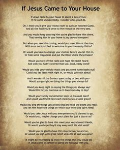 Didi @ Relief Society: If Jesus Came to Your House Poem (Daily Quote March 3, 2014)