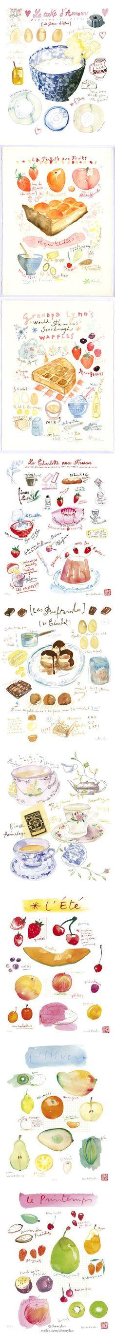 堆糖 发现生活_收集美好_分享图片 - recipe watercolors, so dreamy
