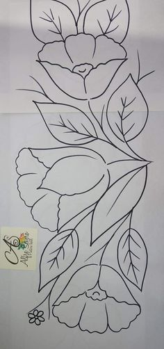 Floral Embroidery Patterns, Hand Embroidery Flowers, Hand Work Embroidery, Hand Embroidery Designs, Applique Patterns, Cross Stitch Embroidery, Quilt Patterns, Painting Patterns, Fabric Painting