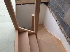 Hip to Gable Loft Conversion - Staircase Loft Conversion Stairs, Loft Conversions, Loft Stairs, Joinery, House Design, Mirror, Building, Dreams, Space