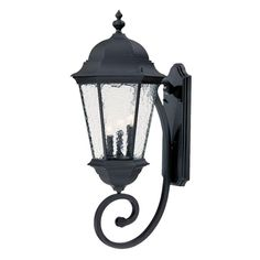 Acclaim Lighting Telfair H Matte Black Candelabra Base Outdoor Wall Light at Lowe's. The Telfair collection of lighting features a simple, tradition design. Long, tapered glass panes of hammered glass are framed inside of a cast aluminum Black Candelabra, Wall Mounted Light, Wall Mount Light Fixture, Outdoor Wall Mounted Lighting, Outdoor Walls, Wall Lights, Acclaim Lighting, Wall Lantern, Black Light Fixture