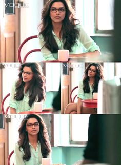 Deepika Padukone for Vogue eyewear 2013 photoshoot