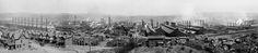 Panorama, Homestead Steel Works, Homestead PA (near Pittsburgh). circa 1900-1910