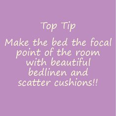 Top Tip! Harry Corry, Scatter Cushions, Linen Bedding, Bloom, Tips, How To Make, Linen Sheets, Small Cushions, Throw Pillows