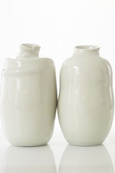 porcelain vases hand thrown and altered by Sandi Fellman Vessels