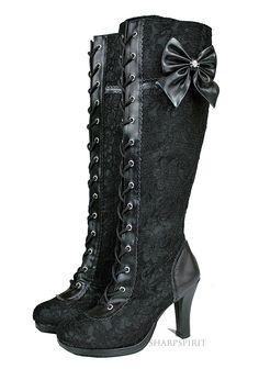 Vintage Style Victorian Lace Boots #Romantic #Steampunk #Lace …