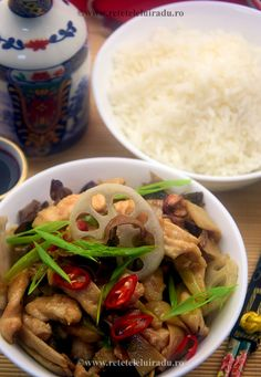 Chicken breast with lotus seeds and roots & chinese dried mushrooms