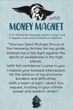 Try this ritual of Catholic origin to attract money to your life quickly. In times of urgent needs, this prayer to St Michael can work like a miracle charm Hoodoo Spells, Magick Spells, Gypsy Spells, Green Witchcraft, Candle Spells, Wiccan, Wealth Affirmations, Positive Affirmations, Catholic Rituals