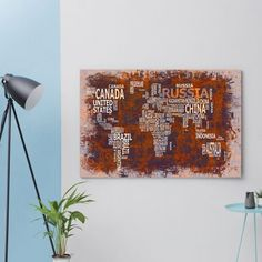 World Map No. 10  on Canvas designed in Germany by WandbilderXXL #MONOQI