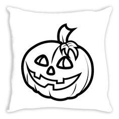 Pumpkin Coloring Pillow By Tinge & Hue