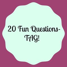 New post on my blog- 20 Fun Questions Tag!!  http://thesuitablynamed.blogspot.com/2015/12/20-fun-questions-tag.html