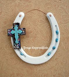 Cross Pendant Horseshoe. Could supplement glass into this kind of design for sure.