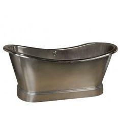 Barclay+COTDSN66L-NS+66+Inch+Nickel+Plated+Copper+Double+Slipper+Bathtub
