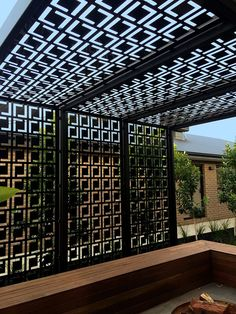 Decorative privacy screen & pergola using QAQ's 'Babylon' design.
