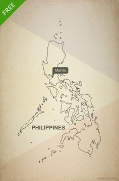 Free vector map of Philippines outline Philippines Tattoo, Manila Philippines, Philippines Travel, Map Tattoos, I Tattoo, Map Vector, Vector Free, Skin Palette, Philippine Map