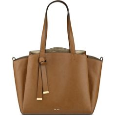 Nine West Gaya Tote (€82) ❤ liked on Polyvore featuring bags, handbags, tote bags, vegan tote, faux leather tote, brown tote purse, tote purses and zip top tote