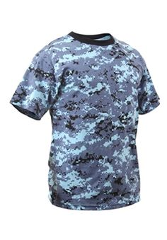 Ultra Force Digital Sky Blue Camo T-Shirt | Buy Now at camouflage.ca
